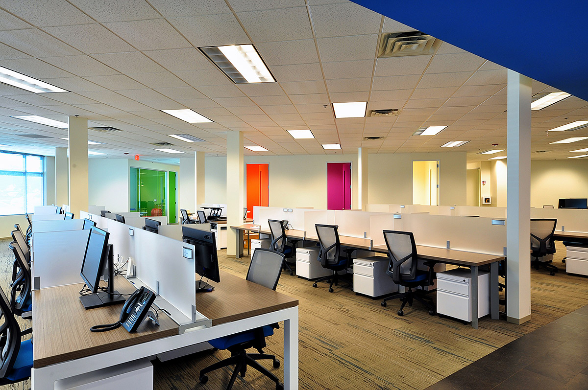 Orbitz worldwide abstract construction for Office interior contractor